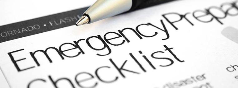 Emergency Checklist Compressor